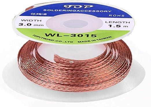 5Pcs 1.5M Solder Wick Remover Desoldering Braid Wire Sucker Cable Flux Wire Lead