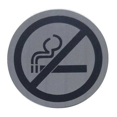 Prohibición de fumar, acero inoxidable para Puerta ...