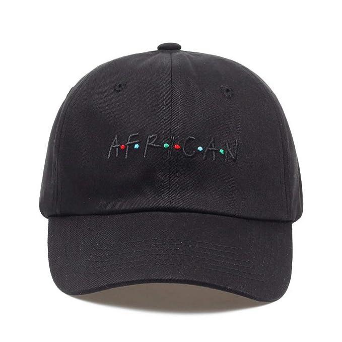 2019 African Letter Embroidery Baseball Cap Women hat Adjustable Men  Fashion Dad Hats Wholesale Black e792c568414c