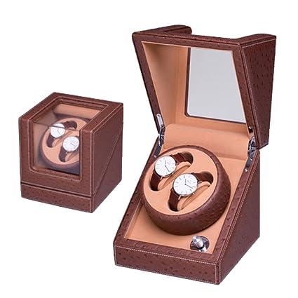 K-Y Cajas giratorias Caja para Relojes Winder automático del Reloj Dual Winders del Reloj 2 Reloj