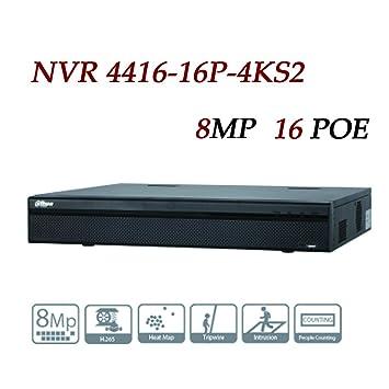 Dahua NVR4416-16p-4KS2 16 Channel 1 5U 16 IP Camera POE 4K & H 265