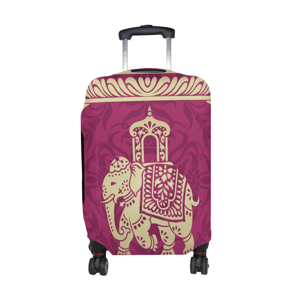 Hippie Indian Elephant Mandala Luggage Cover Travel Suitcase Protector Fits 26-28 Inch Luggage