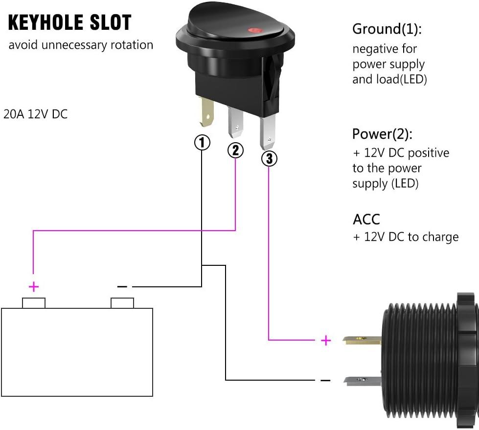 Rocker Switch Usb Car Cigarette Lighter Socket In Car Elektronik