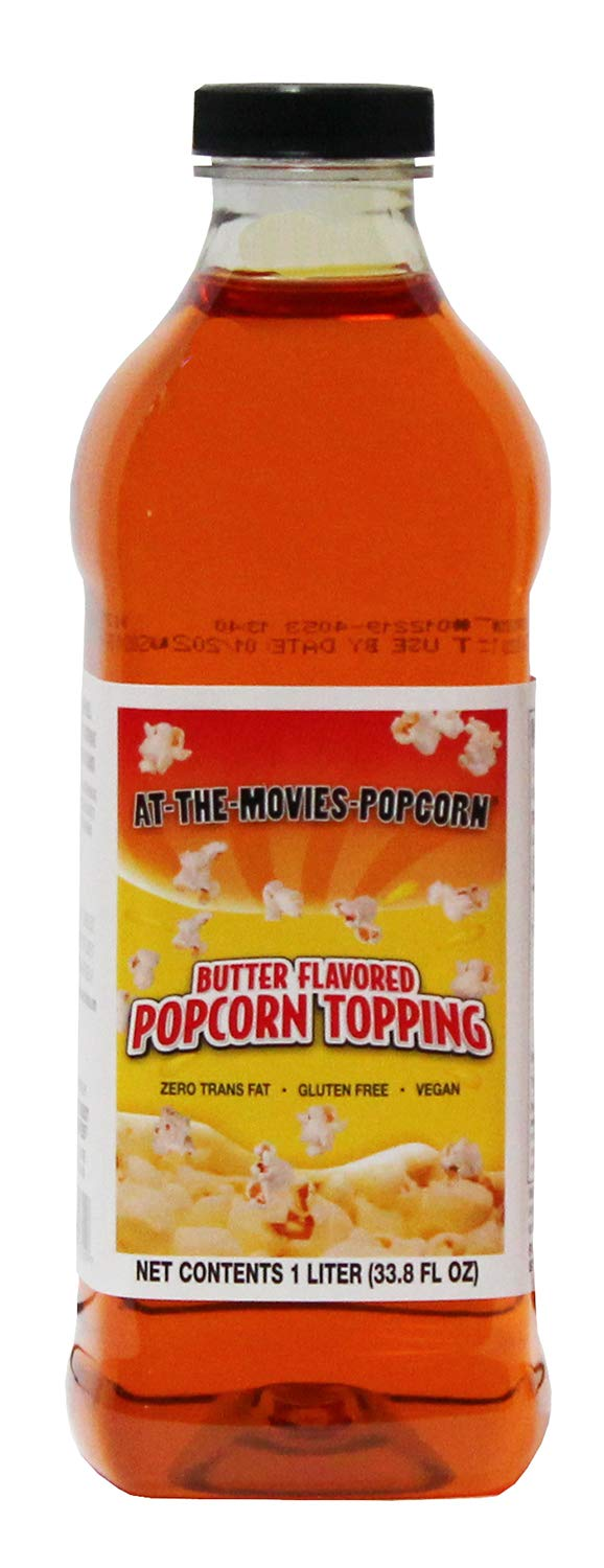 Buttery Flavor Popcorn Topping (1 Liter) by At-The-Movies-Popcorn