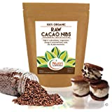 Cacao Nibs, Raw Organic pure vegan dark chocolate ingredient, unsweetened, natural and versatile, premium quality superfood, ideal for power smoothies, protein bars & cookies - 200g