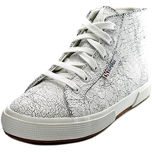 Superga Women's 2095 Crackedleaw Fashion Sneaker, White, 41 EU/9.5 M US