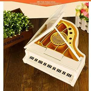 SPFAZJ Navidad Caja Musical Japonesa Han Feng Gira Ballet Piano música Caja Caja de música Inicio decoración Festival Regalos Christma Regalo S: Amazon.es: Jardín