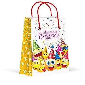 Amazon.com: Fiesta de Emoji bolsas de dulces para niños ...
