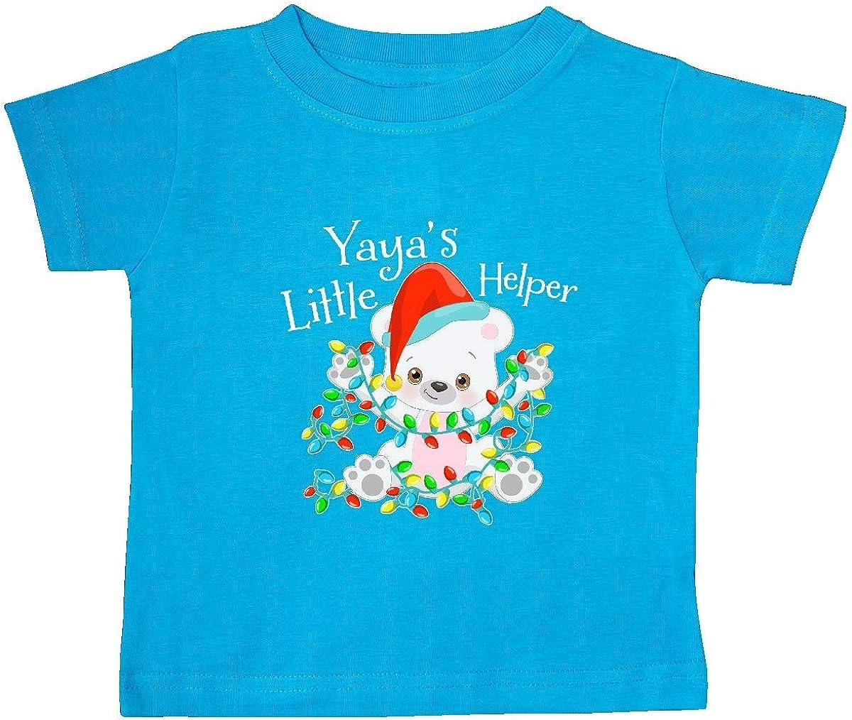 inktastic Yayas Little Helper Cute Polar Bear with Christmas Baby T-Shirt