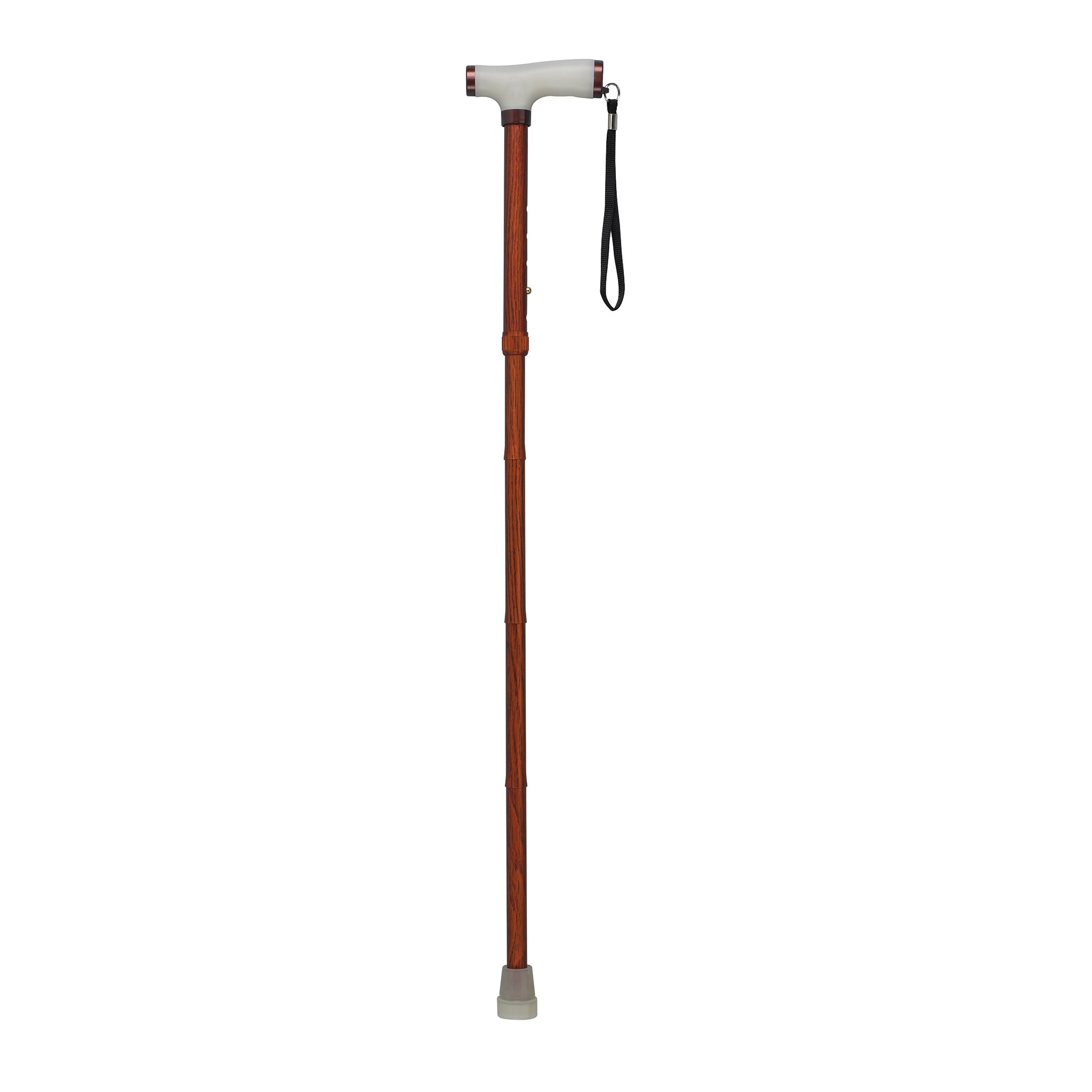 Drive Medical Folding Canes with Glow Grip Handle, Wood