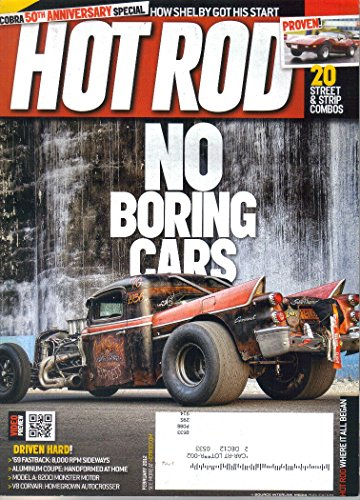 HOT ROD MAGAZINE FOR FEBRUARY 2012 WITH COBRA 50TH ANNIVERSARY SPECIL ON COVER