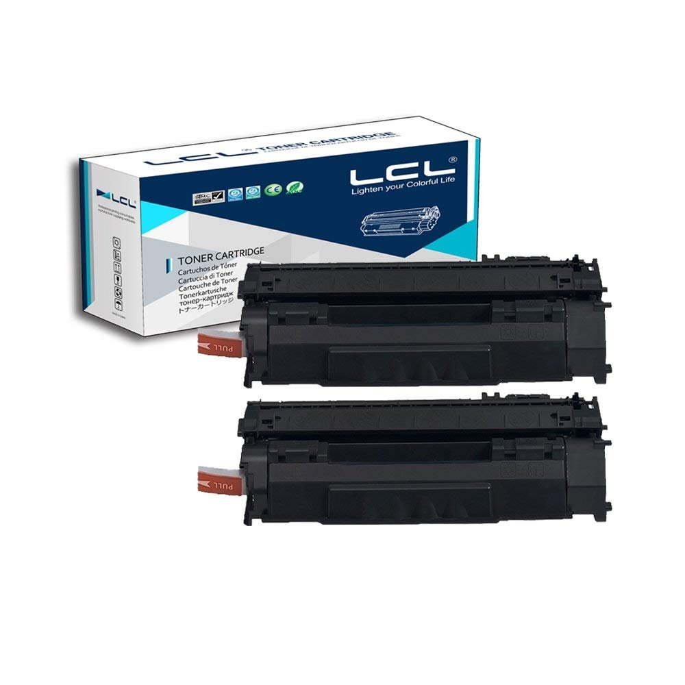 LCL Compatible for HP 49A Q5949A (2-Pack, Black) Toner Cartridge for HP Laserjet 3390MFP/3392MFP/1320/1320N/1320TN