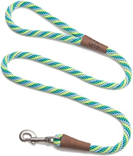 product image for Mendota Pet Snap Leash - British-Style Braided Dog Lead, Made in The USA - Seafoam, 1/2 in x 4 ft - for Large Breeds