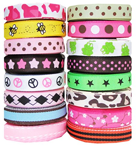 Hip Girl Boutique Printed Grosgrain Ribbon Sampler (80yd 3/8
