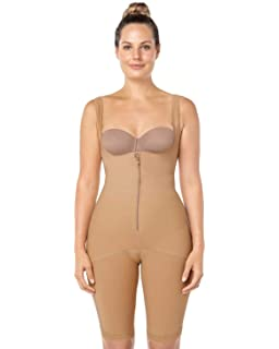 c8dba926c4a Leonisa Women s Braless Body Shapewear with Thigh Slimmer High Compression