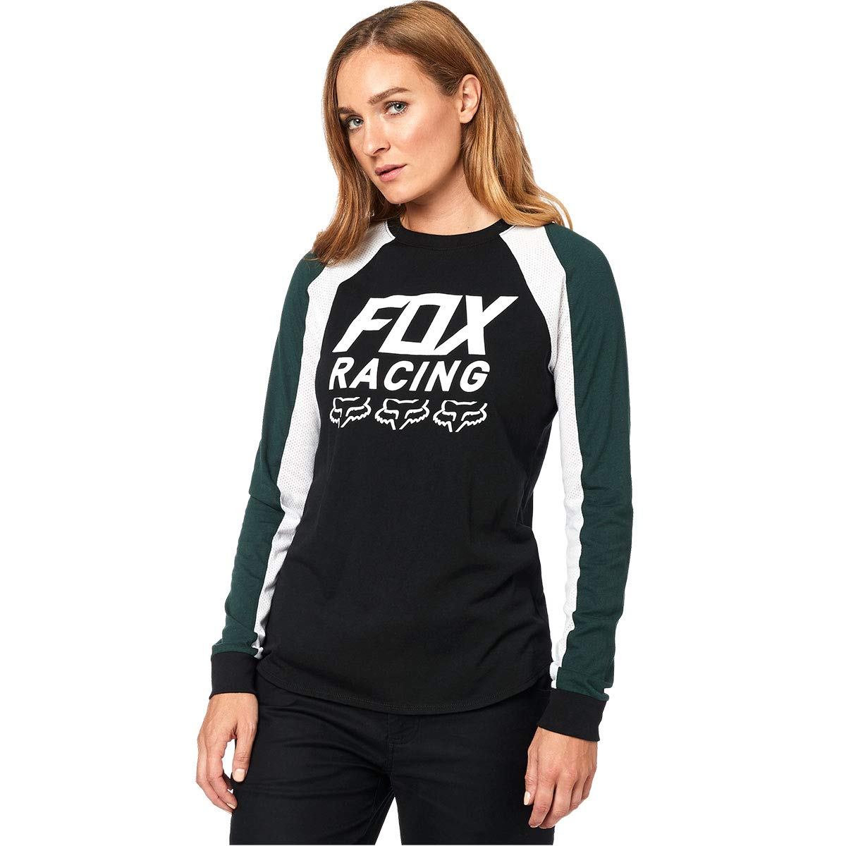 Fox Head Junior's Long Sleeve Top, Black, S by Fox Racing