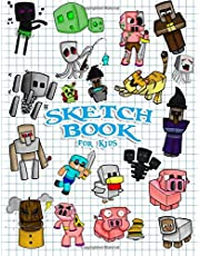 Sketchbook for Kids: Practice How to Draw Book, 114 Pages of 8.5 x 11 Blank Paper for Sketch book Drawing, Doodling or Sketching: Unofficial Minecraft Adventure cover