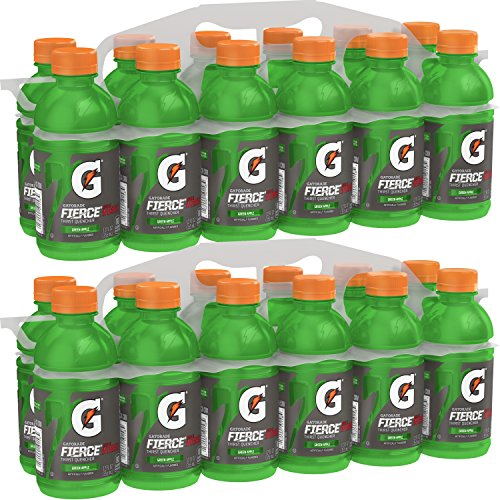 Gatorade Thirst Quencher, Green Apple, 12 Ounce Bottles (Pack of ()