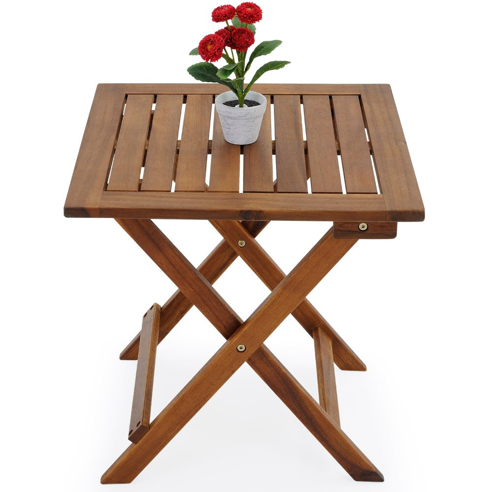 Table basse pliante en bois - Tables jardin d\'appoint - 46x46cm ...