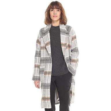 La Redoute - Abrigo - para Mujer Grau Kariert 38