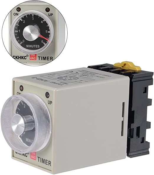 DC24V 10 Minutes 0-10M Power On Delay Timer Time Relay AH3-3 Socket Base 8-PIN