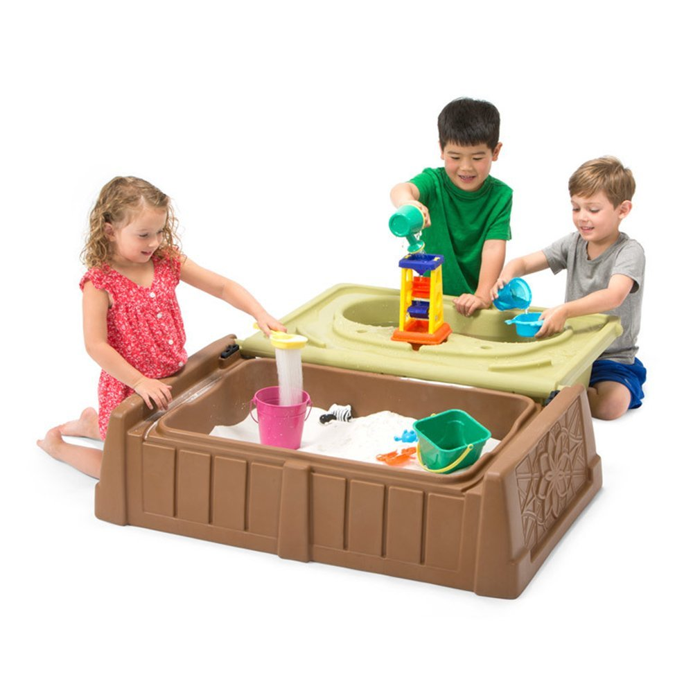 amazon com simplay3 kids storage bench with sand and water