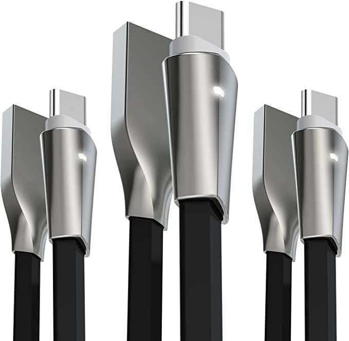C Cable Pack Of 3 Alyee 4ft Zinc Alloy High Speed Computers Accessories