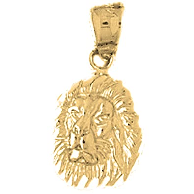 Amazon 14k yellow gold lion head pendant 21 mm jewelry 14k yellow gold lion head pendant 21 mm aloadofball Choice Image