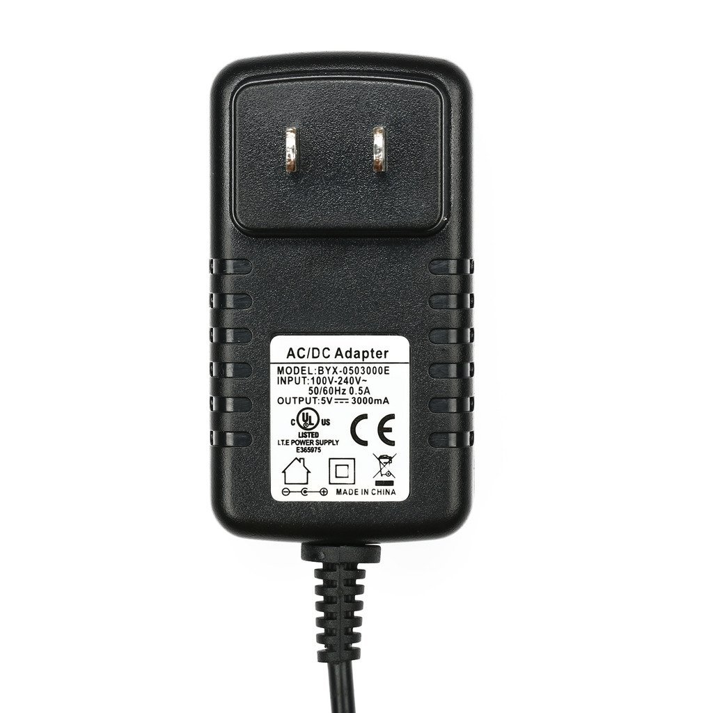 atolla US standard adaptor External Power Supply 15W ( 5V/3A) AC / DC Adapter for USB Hub, 3.5 x 1.35 mm plug center positive by Atolla (Image #3)