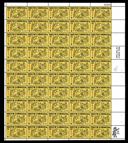 (South Carolina Complete Sheet of 50 x 6 Cent Stamps Scott 1407 By)