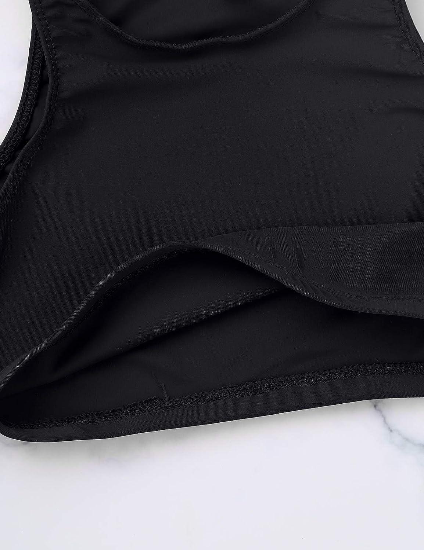MSemis Crop Top de Danza Ballet Gimnasia para Ni/ñas Camiseta Deportiva Yoga Ejecicios Sujetador Depotivo Chaleco Corto Ropa de Deporte Slim Fitness