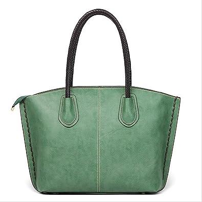 bdb95c7b3801 Amazon | 女性のためのショルダーバッグトップハンドルハンドバッグハンドバッグトートバッグ女性のためのPUのレザーマックブックバッグジップ サッチェルガールズ (色 ...