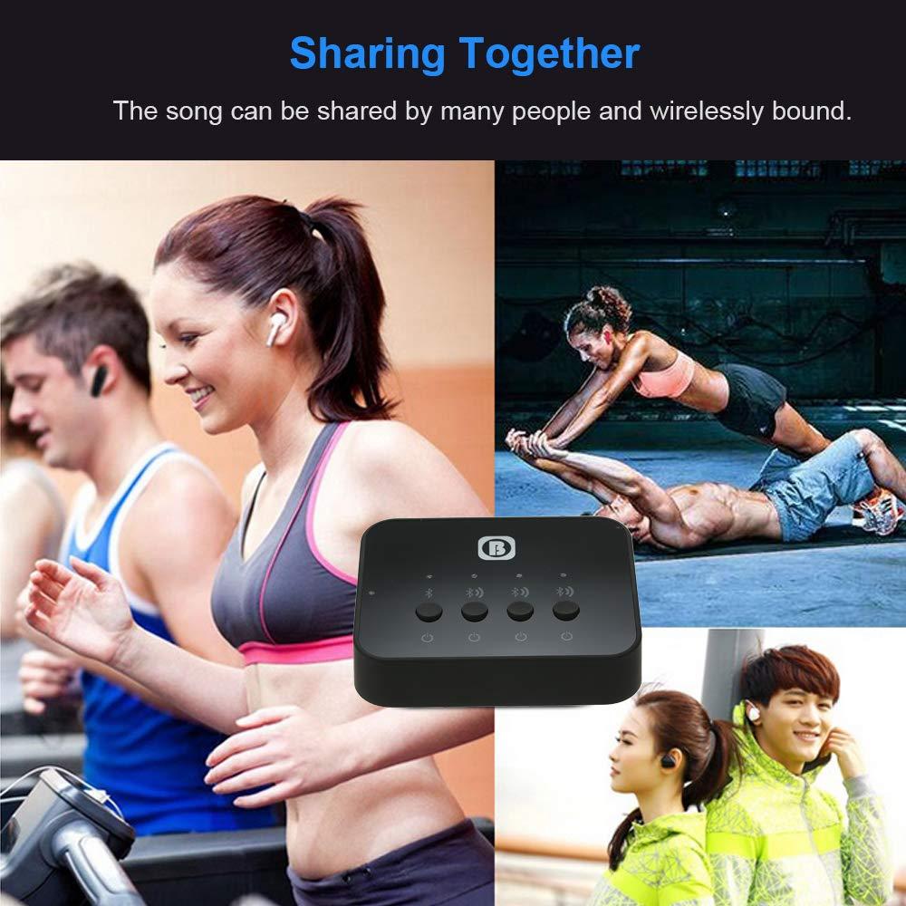 Empf/änger Festnight BT-Audio-Sharing-Ger/ät Hohe Kompatibilit/ät High Fidelity Surround Stereo BT-Audio-Sender und