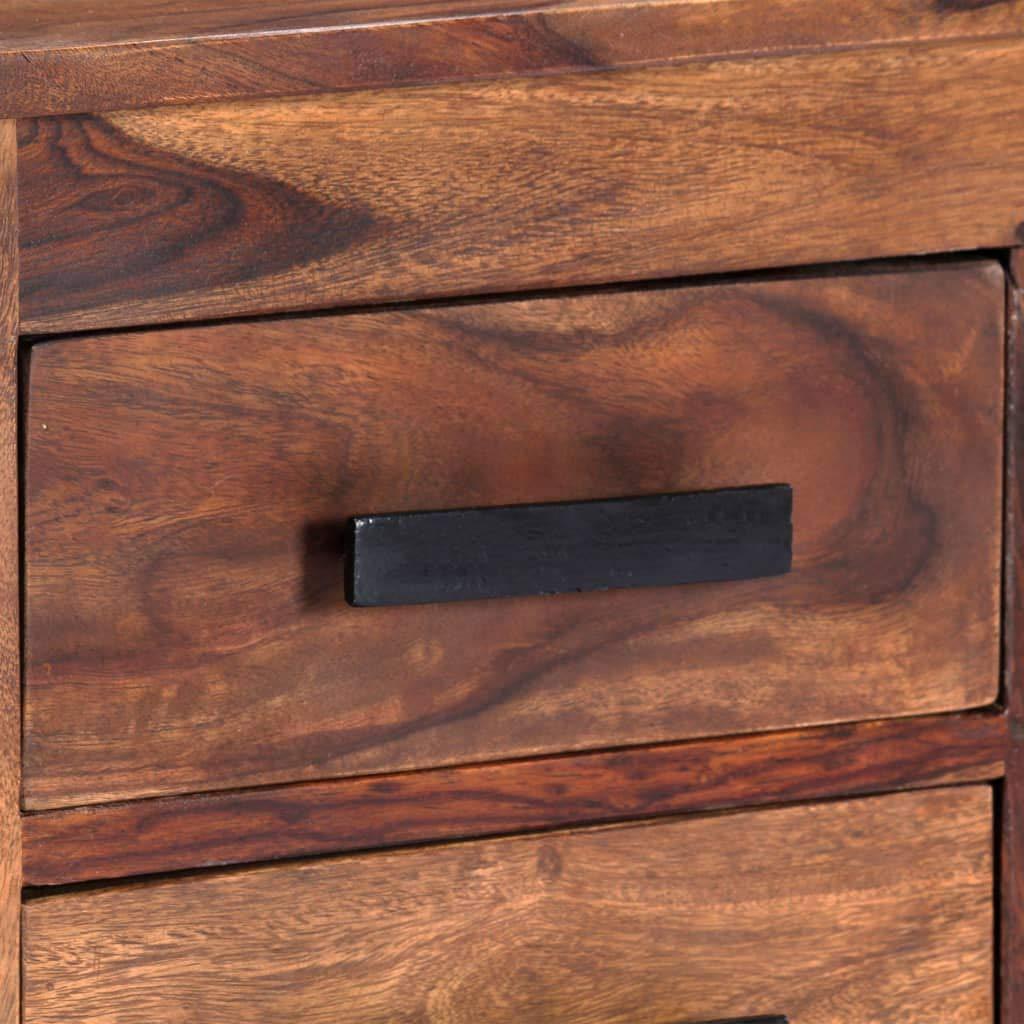 Festnight Mueble para TV Mueble TV Sal/ón Moderno Mesa Televisi/ón con 4 Cajones y 2 Compartimentos Madera Maciza de Sheesham 110x30x40 cm