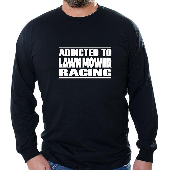 79dd6a088 Custom Brother - Addicted to Lawn Mower Racing Unisex Long Sleeve Shirt  Black
