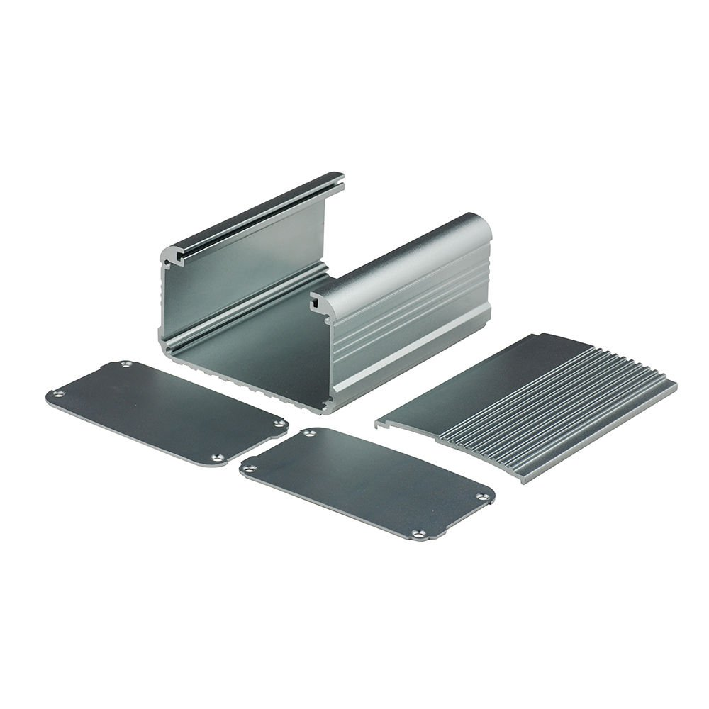 4.32 x 2.82 x 1.13 Eightwood Aluminum Project Box Electronic Enclosure Case for PCB Board DIY LWH Symmetrical Split Body with Stripped Sides Box 4.32 x 2.82 x 1.13 Symmetrical Split Body with Stripped Sides Box LWH