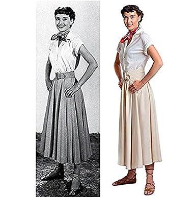 Utopiat Blouse, Skirt w Matching Belt and Scarf Set, Audrey Hepburn ''Roman