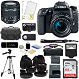 Canon EOS 77D DSLR Camera with 18-55mm Lens, Sandisk Memory Card, Multiple Lens Camera Bag, Tripod, Flash, And More Accessories (15 Piece Camera/lens Bundle)
