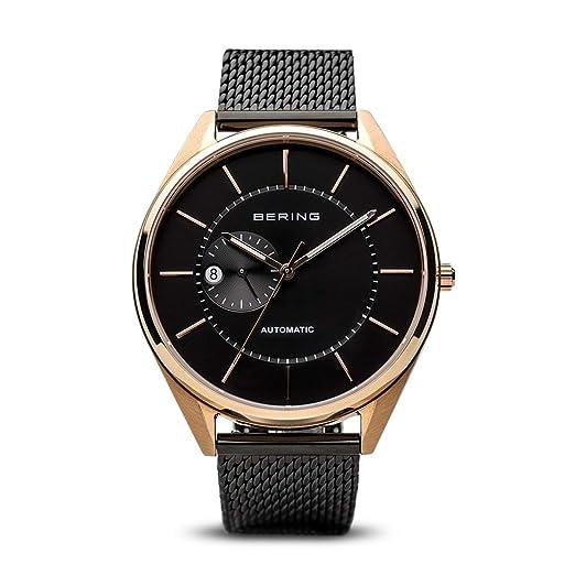 BERING Reloj Analogico para Hombre de Automático con Correa en Acero Inoxidable 16243-166: Amazon.es: Relojes