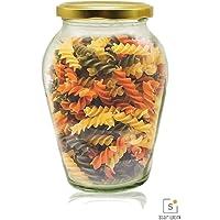 1000 ML Big Pot Glass Jar for Pickle Storage Dried Masla,Grocery,Grain Storage Jar