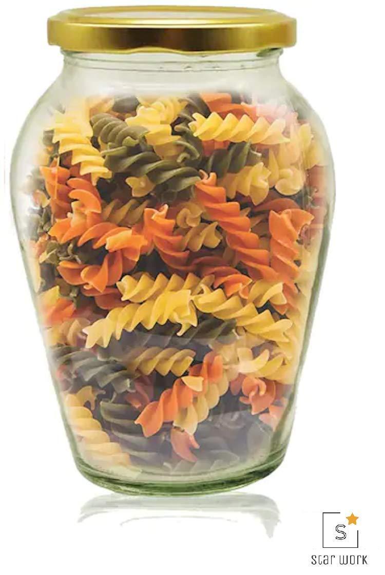 Amazon price history for 1000 ML Big Pot Glass Jar for Pickle Storage Dried Masla,Grocery,Grain Storage Jar (1)