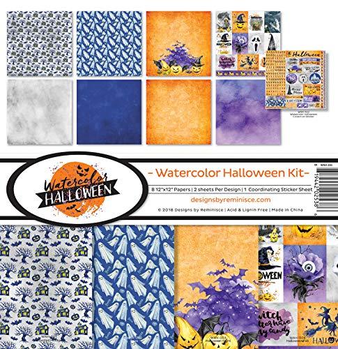 Reminisce (REMBC) WAH-200 Watercolor Halloween Scrapbook Collection Kit