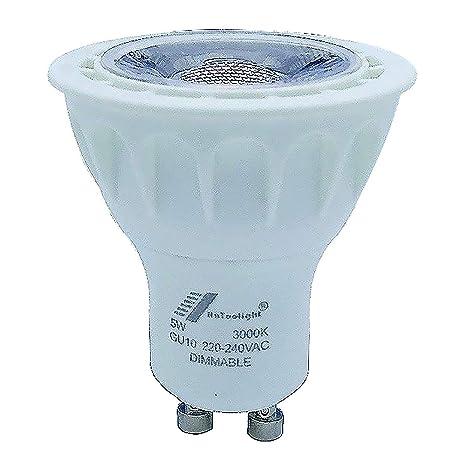 1 pieza GU10 lámpara LED bombilla COB 5 W, regulador de intensidad, iluminación de
