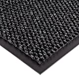 Notrax 136 Polynib Entrance Mat, for Lobbies and Indoor Entranceways, 4' Width x 8' Length x 1/4'' Thickness, Charcoal
