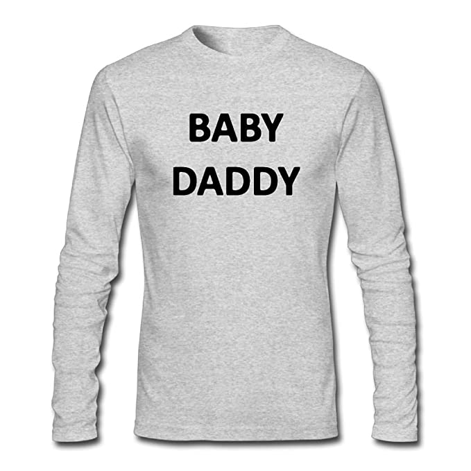 c97c1562 Amazon.com: Fangner Funny Men's Baby Daddy Grandfather Father's Day Gift  Long Sleeve T Shirt: Clothing