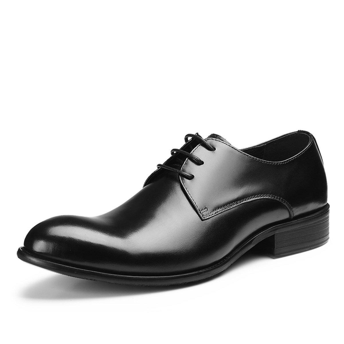 GRRONG Mauml;nner Mode-Business Kleid Schuhe Bequem Atmungs Bankett Schuhe  44|Black