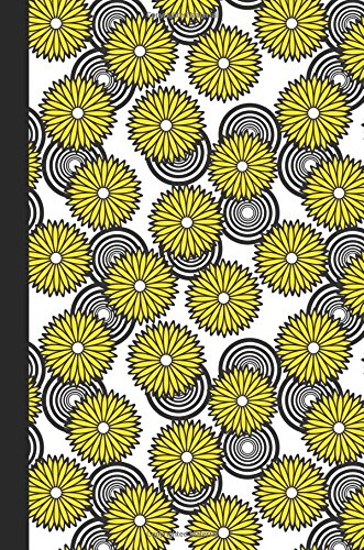 Journal: Spirals and Flowers (Yellow) 6x9 - GRAPH JOURNAL - Journal with graph paper pages, square grid pattern (Spirals and Swirls Graph Journal Series)