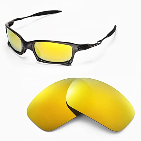 75f36bc3dc6 Walleva Replacement Lenses for Oakley X Squared Sunglasses - Multiple  Options Available (24K Gold Mirror