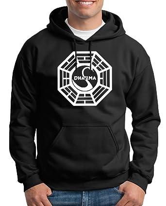 Touchlines Dharma Personalizada Symbolic Sudadera con Capucha Hombre Negro S: Amazon.es: Ropa y accesorios