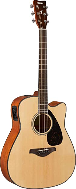 Yamaha FGX800C Folk Cutaway Acoustic-Electric Guitar w/ Gig Bag and Stand